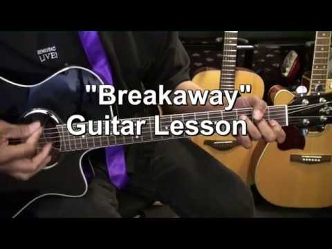 How To Play Kelly Clarkson BREAKAWAY On Guitar Lesson EricBlackmonMusicHD