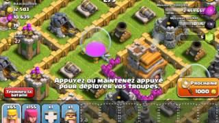 Clash of clans : avenir de la chaine + petite ataque