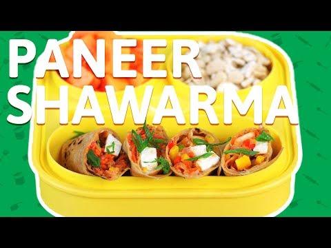 Paneer Shawarma Wrap - Street Style Cottage Cheese Wrap - Veg shawarma Recipe For Kids