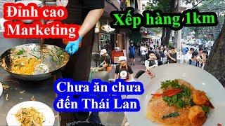 Quá sốc chỉ vì dĩa phở xào 100k ngon nhất Thái Lan mà xếp hàng 2 tiếng mới được ăn - Thip Samai
