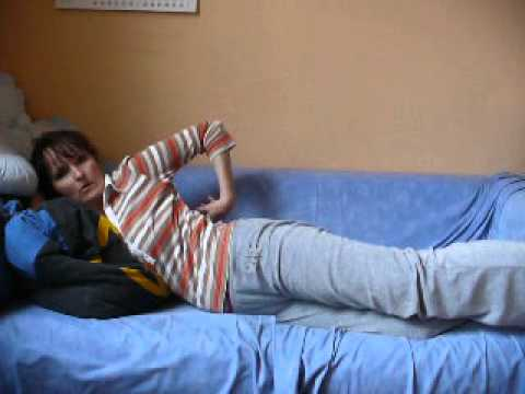 bungen f r den sch nen po teille bequem auf dem sofa abnehmen youtube. Black Bedroom Furniture Sets. Home Design Ideas