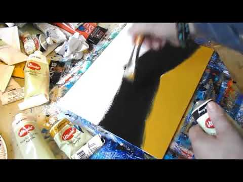 Abstract Landscape Painting Tutorial /  Acrylics /  Brush /  Fingers /  Easy