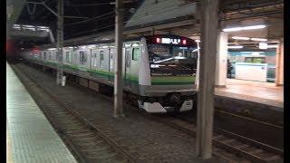 深夜の東神奈川を出発する横浜線下りE233系