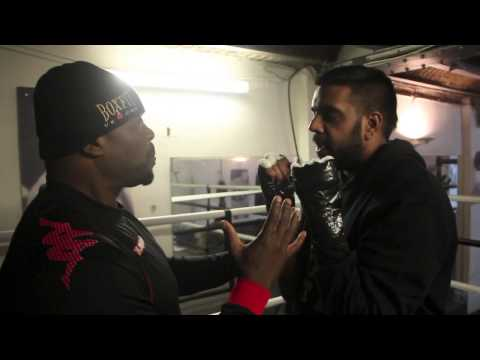 'TRAINING DAY' - DON CHARLES ATTEMPTS TO 'TEACH' KUGAN CASSIUS HOW TO BOX @ MY GYM.