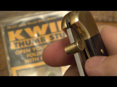 Kwik Thumbstuds (Removable & Reusable)...For Any Knife! (Make Your Traditional Knives One Handed)