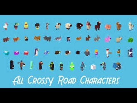 come sbloccare TUTTI i  personaggi nascosti su crossy road