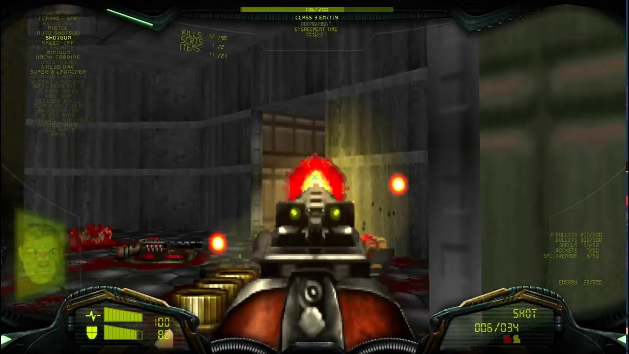 Brutal Doom Project Brutality + Real World 2 wad Gameplay  by Doom Space  Marine 667