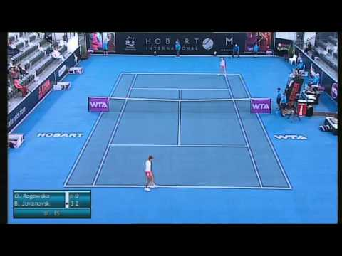 Olivia Rogowska vs Bojana Jovanovski, Hobart International 2014 - Full Match