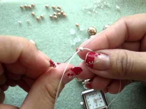 Reloj de Perlas en forma de Flores .41