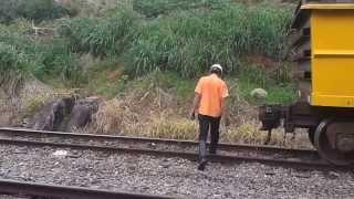 Trem FCA VLI, Um pouco de operação ferroviária no patio da estação de Viana, Espirito Santo.