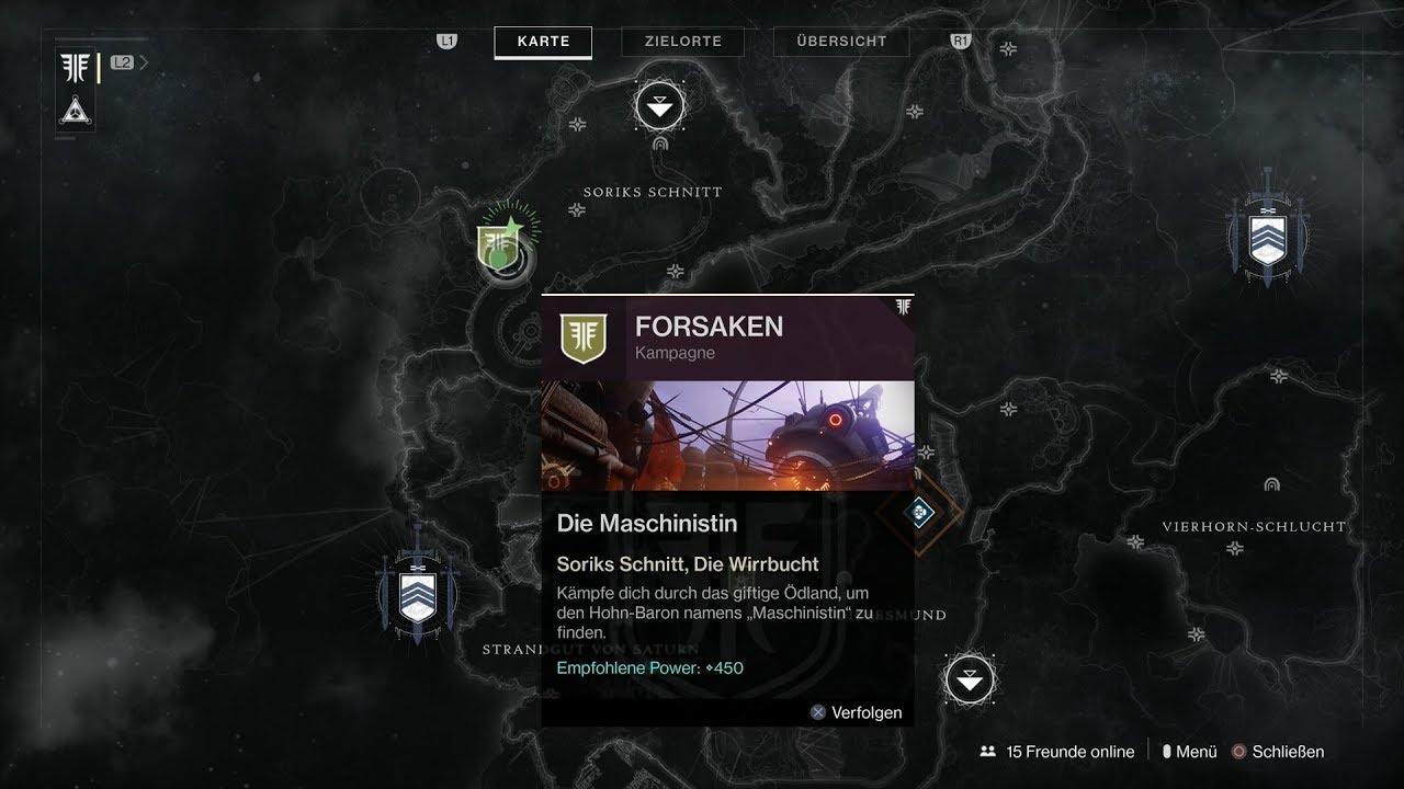 Destiny 2 Raid Karte.Destiny 2 Forsaken 011 Die Maschinistin Kampagne Soriks Schnitt Die Wirrbucht Hd Ps4