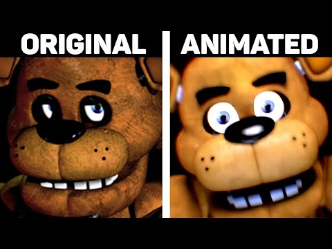Five Nights at Freddy's 1 Jumpscares Original vs. Animated