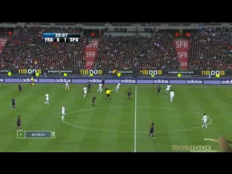 Andres Iniesta Vs France (03.03.10)