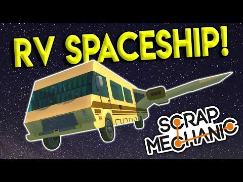 SPACEBALLS RV SPACESHIP, FALCON HEAVY & MORE! - Scrap Mechanic Creations Gameplay - Space Creations
