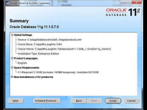 How to install Oracle 11g on Linux