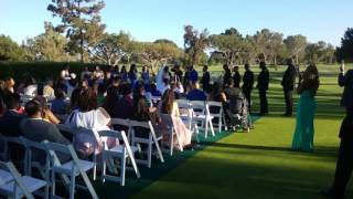 Handsome Keenan and beautiful Kelly wedding day Costa Mesa California