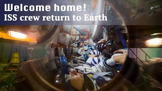 Live: Welcome home! ISS crew return to Earth远征53队员搭乘联盟号宇宙飞船返回地球