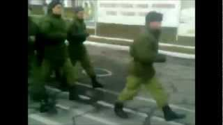 Russian Army Marches to Spongebob Squarepants Theme Song