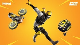 Fortnite new skins. Hard charger,motocase - Stunt cycle glider