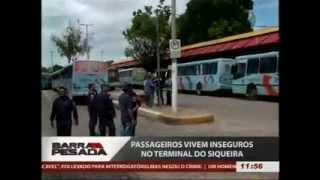 TV JANGADEIRO/BAND - BARRA PESADA - PARALISAÇÃO NO TERMINAL DO SIQUEIRA