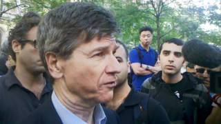 Jeffrey Sachs (Columbia University professor) Supports Occupy Wall Street