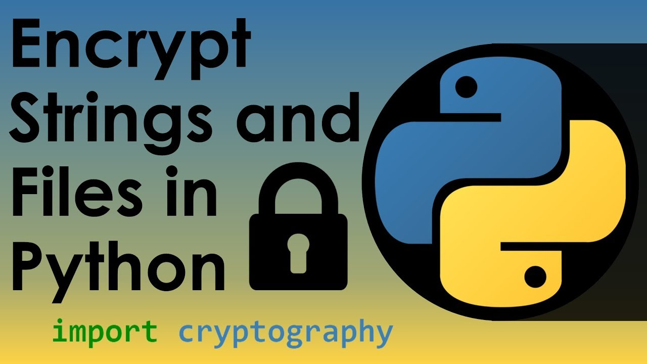Encryption and Decryption in Python - Nitratine