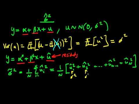 Estimator for the population error variance