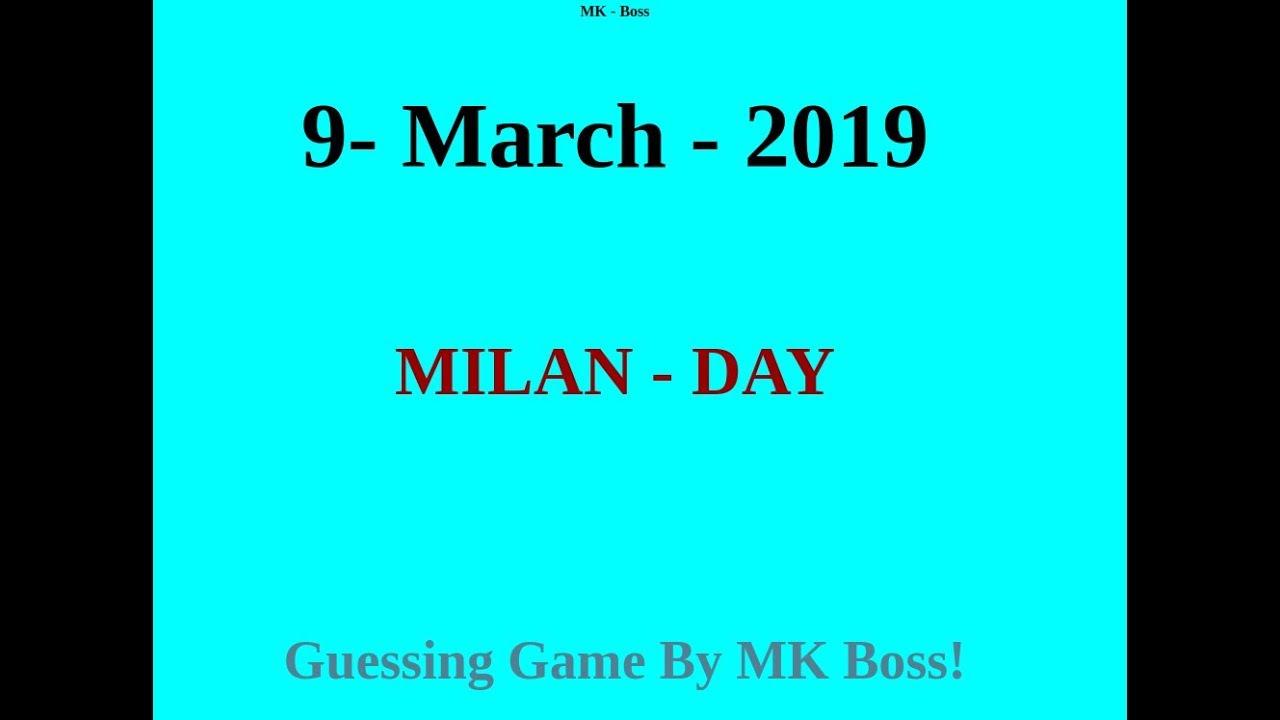 Milan-Day Satta Matka 9 March Free Game Strong OTC[Hindi]