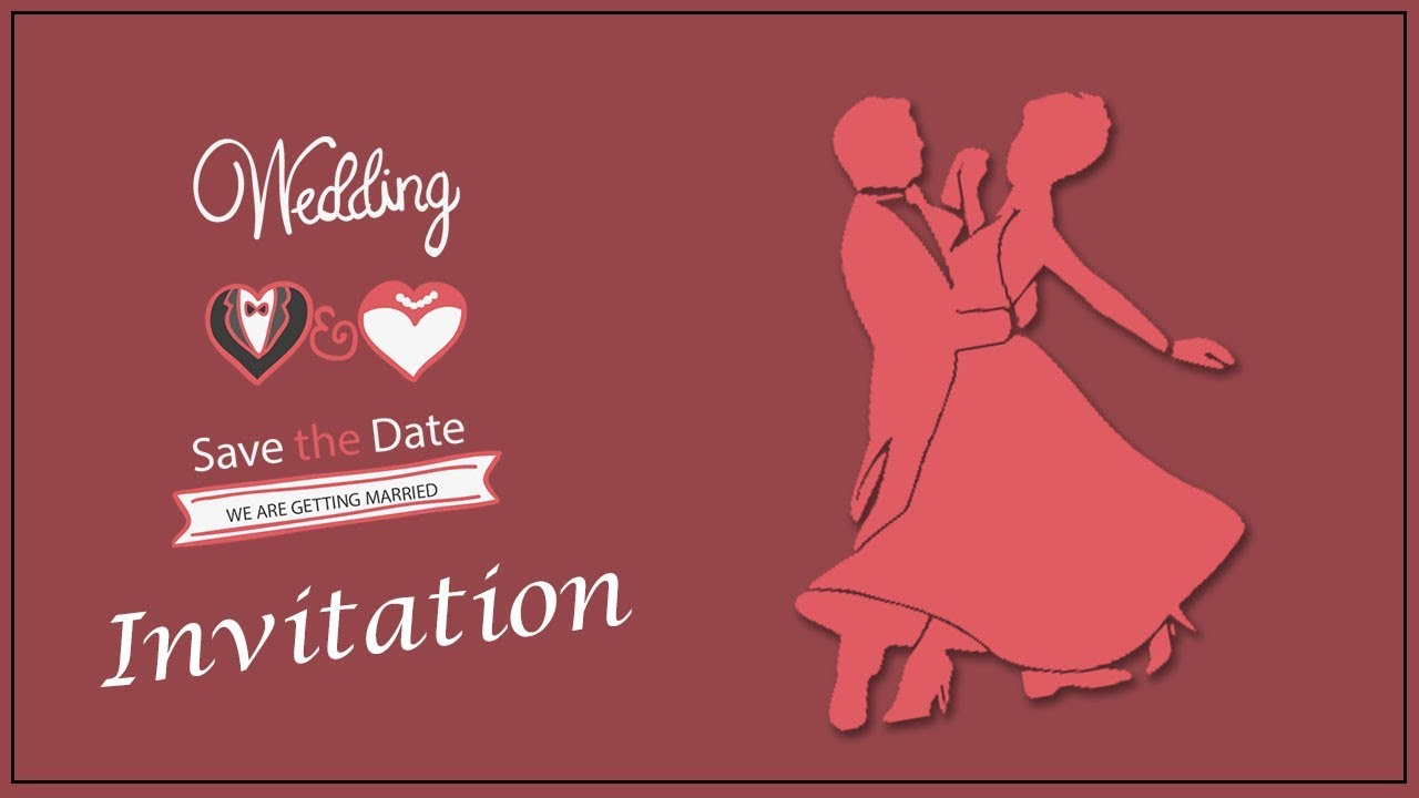 Save the date Invitation | For What\'s app | Creative wedding E ...