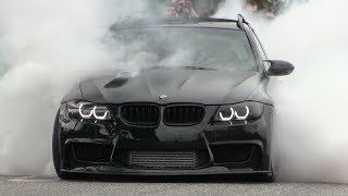 INSANE 900HP BMW 335i W/ FLAMETHROWER HOODEXHAUST | MASSIVE BURNOUT!!