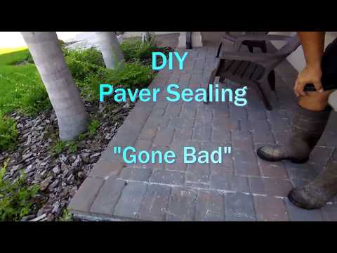 How to Apply Paver Sealer -- How NOT to Apply  Sealer- DIY TIPS - TOP 3 PAVER SEALING MISTAKES
