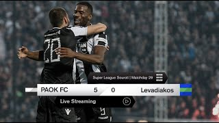 PAOK TV Rewind: ΠΑΟΚ-Λεβαδειακός 5-0 [Full Game] - PAOK TV