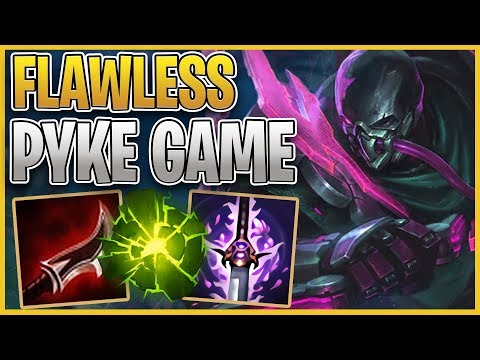 An ABSOLUTELY FLAWLESS Pyke Game!?! Using the NEW PROJECT PYKE Skin!!! League of Legends