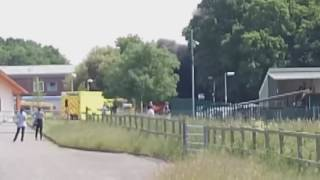 East Surrey Hospital ambulance fire