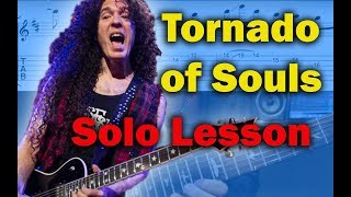 How to play 'Tornado Of Souls' by Megadeth Guitar Solo Lesson w/tabs
