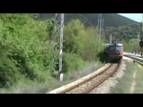 Bulgarian railways SOFIA KULATA Cab view