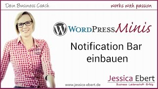 Wp Minis #9 - Notification Bar mit Button anzeigen