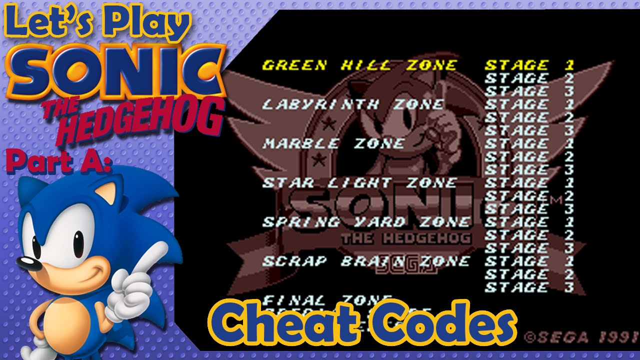 Sonic The Hedgehog Part A Cheat Codes Youtube