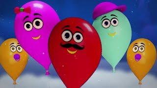 ballons famille doigt | Chansons pour enfants | Kids & Baby Nursery Songs | Balloons Finger Family