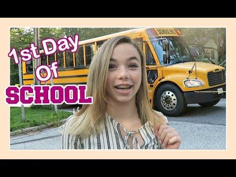 1ST DAY OF 😨  MIDDLE SCHOOL AFTER 2 YEARS OF HOMESCHOOL | Flippin' Katie