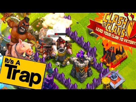 CLASH OF CLANS - CRAZY EPIC HOGRIDER SURVIVAL!
