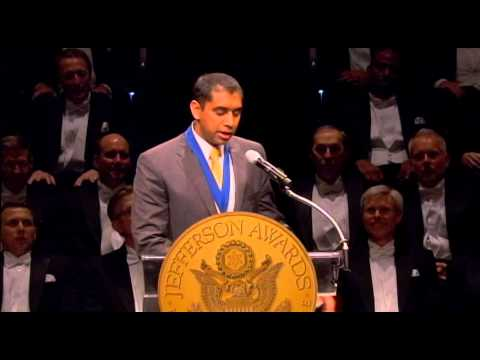 Neilesh Patel at 2013 National Jefferson Awards in Washington, DC