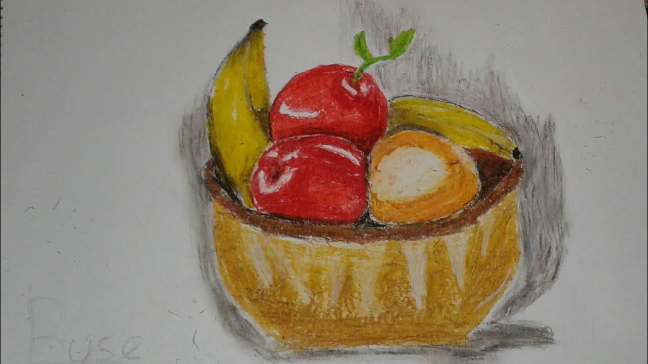 Natürmort Meyve Tabağı çizimim Youtube