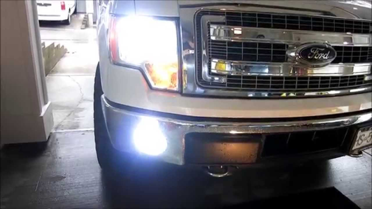 HOW TO INSTALL HID FOG LIGHTS H10 FORD F150 2014 - YouTube