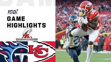 Titans vs. Chiefs AFC Championship Highlights | NFL 2019 Playoffs