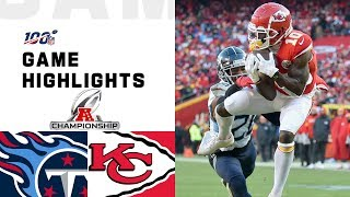 Titans vs. Chiefs AḞC Championship Highlights | NFL 2019 Playoffs
