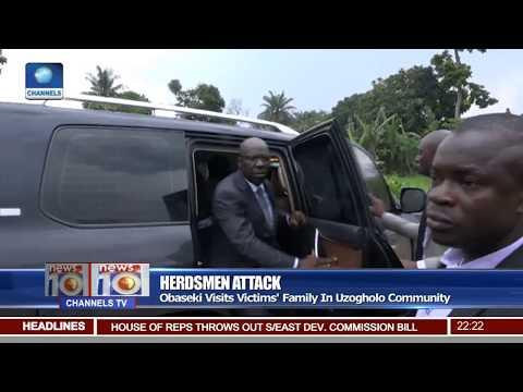 Gov. Obaseki Visits Herdsmen Attack Victims' Family In Uzogholo Community