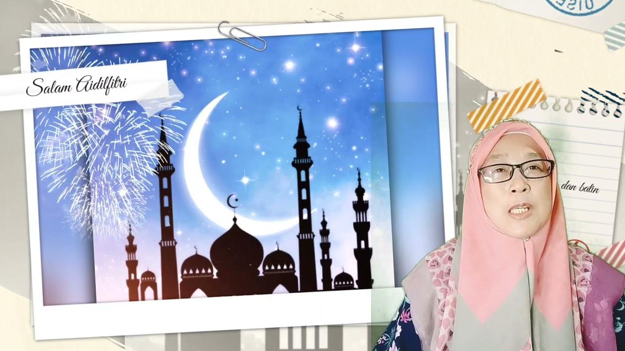 Kad Raya Digital Aidilfitri Free Template By Cikgoo Dealisha Channel Youtube