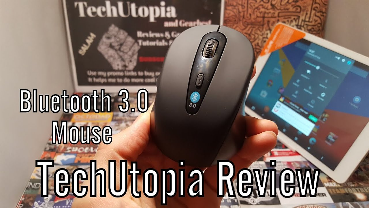 7da647b82a6 2.4G Bluetooth 3.0 Mouse Review/Hands on/Unboxing/Test/Paring on dual os  tablet Windows/Android
