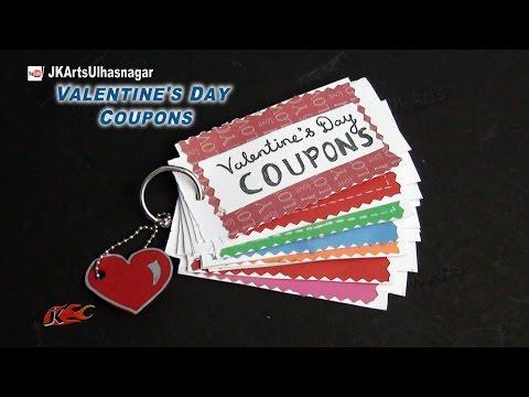 DIY Love Coupon Book | Valentine's Day Gift Idea | JK Arts  857
